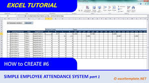 How To Create A Simple Excel Employee Attendance Tracker Spreadsheet