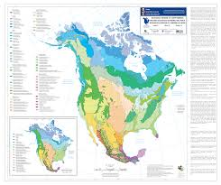 ecological map of north america (level )  north america  pinterest