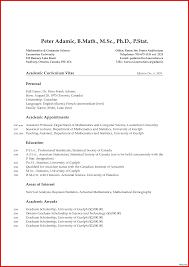 Academic Curriculum Vitae Samples Luxury Template Resume Latex Z5arf