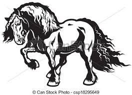draft horse head silhouette. Wonderful Draft Draft Horse  Csp18295649 On Draft Horse Head Silhouette E