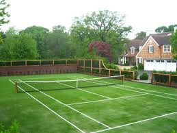How Much Does A Full Court Outdoor Basketball Court Cost  Home Backyard Tennis Court Cost