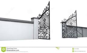 open door clipart black and white. Open Gate Door Clipart Black And White