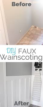 if you are in love with wainscoting but can t afford the cost of wainscoting