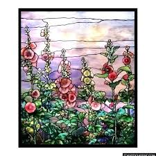 tiffany stained glass hollyhocks tiffany stained glass museum chicago