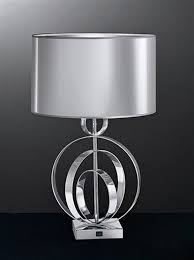 modern silver table lamps cordless target outdoor lamp parts home