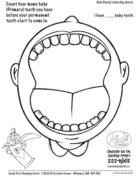 Small Picture Dental Coloring Pages Activities Archives And Teeth Coloring Page