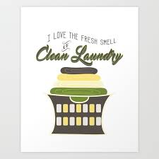 clean laundry wall art art print by
