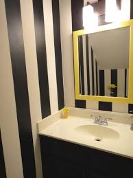 Bathrooms : Enchanting Yellow And Gray Bathroom For Lime Green ...