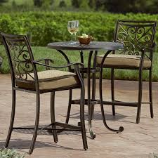 patio chairs outdoor table and 2 chairs glass patio bistro set table metal