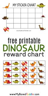 Dinosaur Reward Chart And Stickers Printable Reward Charts Printable Reward Charts Toddler