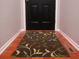 ottomanson ottohome collection contemporary leaves design area rug with non skid rubber backing 3 3 x5 0 chocolate brown ottomanson