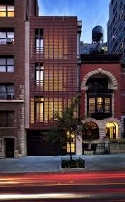 A stunning exterior view of this modern home in the upper West Side in New  York City.