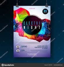 Poster Design Party Night Dance Party Poster Design With Abstract Modern