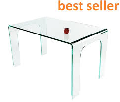 bent glass dining table dt017 clear