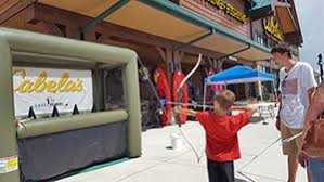 bring the kids out to try their hand at the cabela s safe archery range