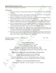 teacher resume sample page 2 new teacher resume template