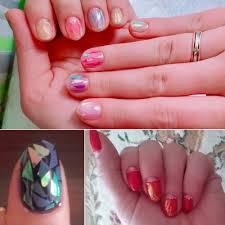 24 Different Color Broken Glass Starry Nail Foils Nail Art Sticker ...