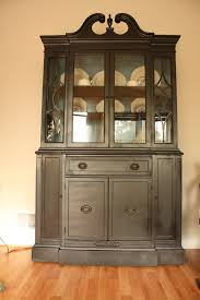living room updates spray painted china cabinet makeover fearfully wonderfully made