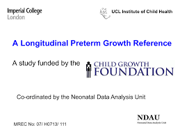 Child Growth Foundation Centile Charts A Longitudinal Preterm Growth Reference
