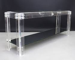 lucite console table. Full Size Of Lucite Parsons Console Table Tables Luxurious And Elegant Playtriton Black Glass Modern Round