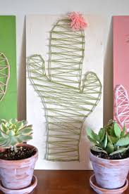 Diy String Art Diy Cactus String Art Craft From Scratch With Maria Provenzano