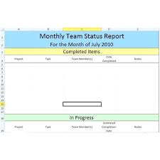 Monthly Project Report Template Word – Agoodmorning.co