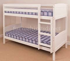 bed 2. Beautiful Bed CONTEMPORARY DESIGN WHITE BUNK BED U0026 2 X MATTRESSES SPLITS INTO SINGLE  BEDS  EBay On Bed O