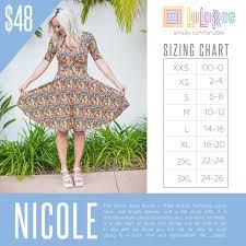 Lularoe Nicole Sizing Chart With Price Lularoe Sizing