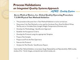 Method Of Procedure Template Delectable Process Validations An Integrated Quality Systems Approach Ppt