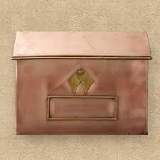 wall mount mailbox envelope. Brexton Horizontal Wall-Mount Copper Mailbox Wall Mount Mailbox Envelope