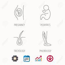 Pregnancy Pediatrics And Phlebology Icons Trichology Vein