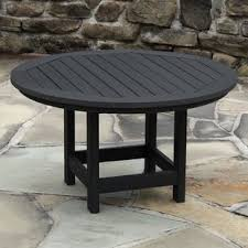 Round outdoor coffee table Tile Quickview Wayfair Round Patio Coffee Tables Youll Love Wayfair