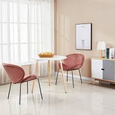 1er Silky Samt Akzent Sessel Für Kleine Küche Esszimmer Büro