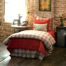cuddl duds 6 piece red plaid flannel comforter set and brown duvet cover tartan green covers