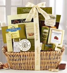sympathy gift baskets from 1800baskets