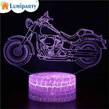 LumiParty Creative 3D LED Xe Máy Đêm Chuyển Đổi Đèn Cảm Ứng Điều Khiển Từ Xa  Giường Ánh Sáng Nhà Office Trang Trí Quà Tặng|Đèn LED ban đêm