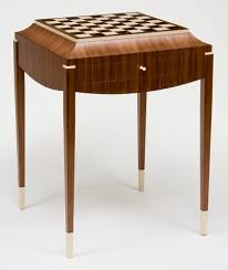 art deco inspired furniture. Walnut, Walnut Burl, Holly, Ebony, And Maple Description: This Is The Second Version Of My Original Art Deco Inspired Chess Table, One In Furniture R
