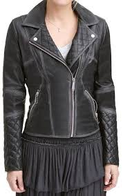 details about lexi women black quilted asymmetrical las moto womens leather jacket