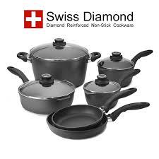 swiss diamond cookware. Exellent Swiss Le Cookery USA Swiss Diamond 10 Pc Cookware Set To A