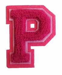 p l vs income statement machine embroidered varsity letter p