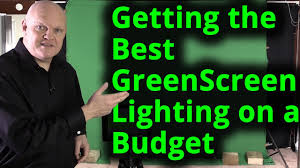 getting the best green screen chroma key lighting setup on a budget you