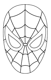 Coloriage Masque Spiderman Imprimer