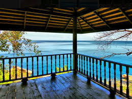 the view of the sea on a hot bikram yoga and pilates in koh samui