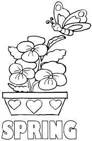 Small Picture Kids Coloring spring coloring printables Spring Coloring Pages