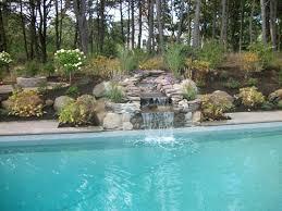 Poolside Waterfall