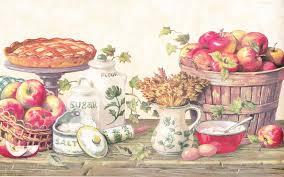 country kitchen grannys apple pie berautiful border wall lentine