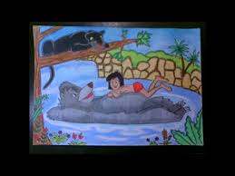draw the jungle book characters sd drawing
