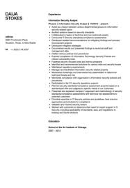 Awesome Collection of Sample Resume For Information Security Analyst With  Additional Format Layout
