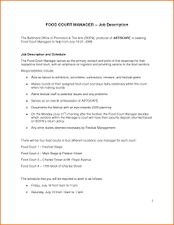 Fast Food Resume 100 fast food manager resume Financial Statement Form 29