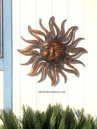 wall arts celestial sun moon wall art hanging metal plaque large intended for 2017 sun